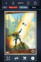 Topps Marvel Collect - Thor War of the Realms Narrative FULL RARE SET + AWARD