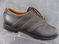 Adidas Ztraxion tour mens brown leather saddle laceup soft spike golf shoe Us7.5