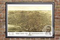 Vintage Buffalo, NY Map 1880 - Historic New York Art - Old Victorian Industrial