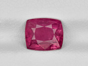 GRS Certified TAJIKISTAN Ruby 2.17 Cts Natural Untreated Cushion