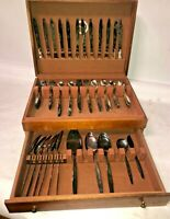 83 pc ONEIDA MCM 1960 COMMUNITY ENCHANTMENT GENTLE ROSE SILVERPLATE FLATWARE