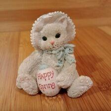 "Enesco Calico Kittens ""Happy Spring"" Easter Figurine"