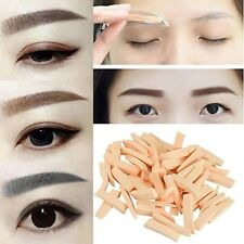 8Pcs/4 Pair Eyebrow Powder Brow Stamp Seal Eyebrow Stencil Makeup Tool Set