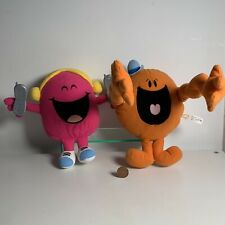 FISHER PRICE - MR TICKLE AND LITTLE MISS CHATTER BOX MR MEN PLUSH SOFT TOYS X 2