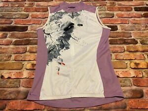 Louis Garneau Women's Comp Sleeveless Tri Top Size L Artsy Splatter Purple