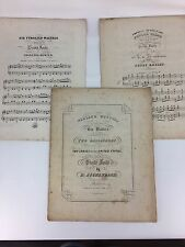 Lot of 3 Sets Antique Waltz Piano Sheet Music Jovial Tyrolien Duetts Vtg 1800's