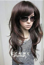 NEW88 vogue long new style dark Brown wavy wigs for women Cosplay Wig