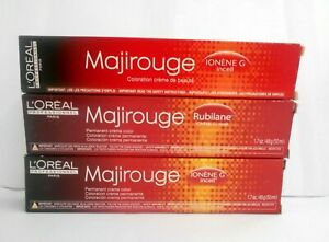 LOREAL Paris MAJIROUGE ~ Brilliant Reds ~Permanent Cream Hair Color ~ 1.7 fl oz!