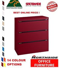 3 Drawer Lateral Filing Cabinet Statewide  Australian Made - 100% feedbk