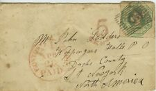 Great Britain, 1855 #5 One Shilling on Cover Liverpool to New York
