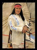 Gojko Mitic Winnetou III Autogrammkarte Original Signiert # BC 123738