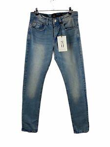 Cotton On NEW Stretch Denim Jeans Mens Size 30 Blue Slim Leg Zip Close Pockets