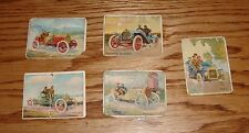 1910 Turkey Red Turkish Cigarettes Automobile Series Card Lot of 5