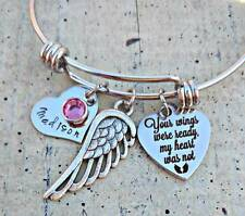 Personalized name Family Child mom loss Memorial Charms Remembrance Bracelet