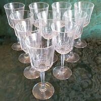 Beautiful Vintage Set 10 Glasses / Goblets / Chalice: Wine / Sherbet Cordials