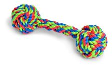 Knotted Rope Bone- Dog Toy Tug Chase Fun Fitness Play Strong Multicoloured Puppy