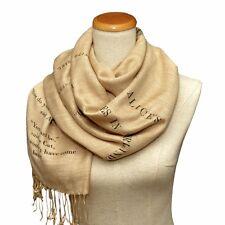 Alice in Wonderland Scarf Shawl Wrap. Book scarf, Literary scarf