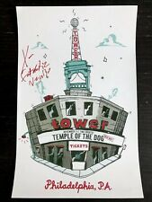 Temple Of The Dog Signed (Fantastic Negrito) Philadelphia Poster Tower Theatre