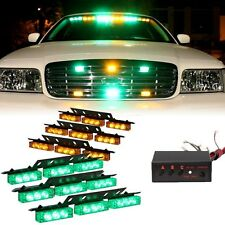 54 LED Grill Emergency Vehicle Car Strobe Flash Lights Front Green Amber Yellow