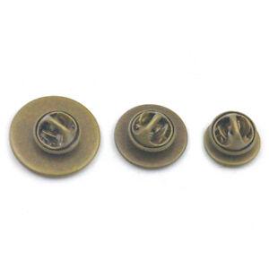 12 16 20mm Tie Tacks Pin Brass Pinch Pad Clutch Back Blank Brooch Clothes DIY
