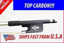 Top Grade Braided Carbon Fiber Viola Bow 4/4 ---Fleur-de-lys