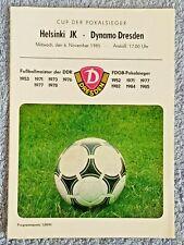 Programm 1996//97 FC Dynamo Dresden SC Charlottenburg