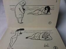 WILLIAM COLE/DOUGLAS McKEE.FRENCH CARTOONS.1ST/1 H/B D/J 1955.B/W ILLS