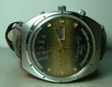 OLD VINTAGE ORIENT AUTOMATIC DAY DATE MONTH WEEK YEAR WRIST WATCH P246 USED