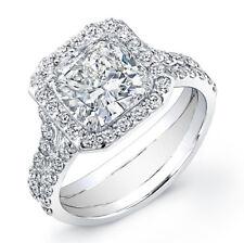 3.22ct Diamond Engagement Ring EGL Cert Cushion I/VS2