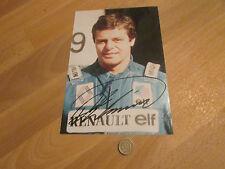 Derek WARWICK formula i / F1 Driver mano originale firmato FOTO