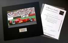 MICHAEL SCHUMACHER GENUINE HAND SIGNED PHOTO F1 2000 FERRARI MOUNTED WITH COA