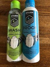 Storm Wash & ecoProofer waterproof Rukka camping Hiking clothing Twin Pack 300ML