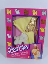 NEW BARBIE DOLL FASHIONS 1986 PET SHOW YELLOW GOLD OUTFIT KITTY CAT #3658