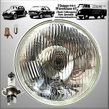 "Classic 7"" Sealed Beam Headlight Conversion H4 Halogen Headlamp With Bulbs Pilot"
