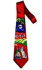 Men Cartoon Neck Tie Dress Casual Fun Wizard Road Runner Speedy Gonzales Loony R