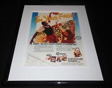 Bases Loaded Hoops 1989 NES Nintendo 11x14 Framed ORIGINAL Vintage Advertisement
