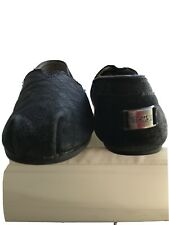 Womens Toms Leather Shoes Black Size 8.5