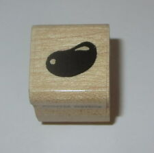 Jelly Bean Rubber Stamp Candy Annette Watkins Wood Mounted