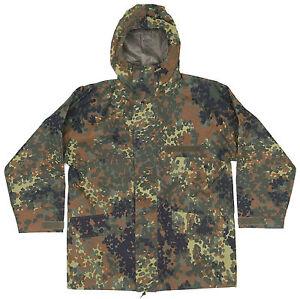 Genuine German Army Issued  Waterproof Gore-Tex Parka Flecktarn Camo Jacket