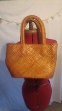 Ladies Straw Bag Vintage Retro Rockabilly Handles 1950 1960 women handbag