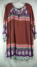 Ulla Popken NEW DARK GREEN PRINTED 3//4 Sleeve Empire Dress SIZES UK 16 to 42