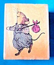 MILTON MOUSE  Holly Pond Hill Hobo Bunny  SUSAN WHEELER Rubber Stamp F13023 RARE