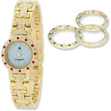 Charles Hubert Gold-finish MOP Dial with 4 Color Bezels Watch