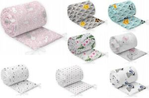 PADDED BUMPER  TO FIT COT COTBED CRIB BABY BEDDING ALL ROUND 100% COTTON