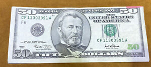 2001 $50 dollar bill error