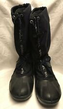 Womens Sorel Boots 6 Blue Canvas Felt Liner Shoes Snowboots