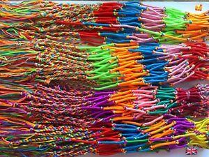 4 X Friendship Bracelets / Anklet,Vibrant Colours,Beach, Surf, Holiday, Festival
