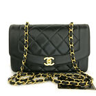 CHANEL Quilted Matelasse Diana 22 CC Logo Lambskin Chain Shoulder Bag /F0141