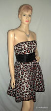 NWT BETSEY JOHNSON  Strapless Leopard Sequin Tulle Rockabilly Dress - AUS 10-12