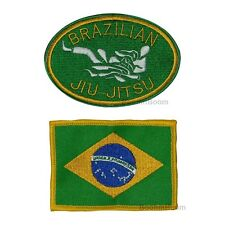 New Brazilian Jiu-Jits Patches Set for JiuJitsu Uniform Brazil Flag & BJJ Patch